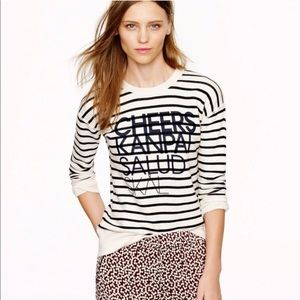 J. CREW Vintage Striped Cheers Sweater